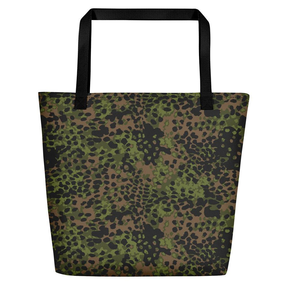 WWII Germany platanenmuster spring Camouflage Beach Bag