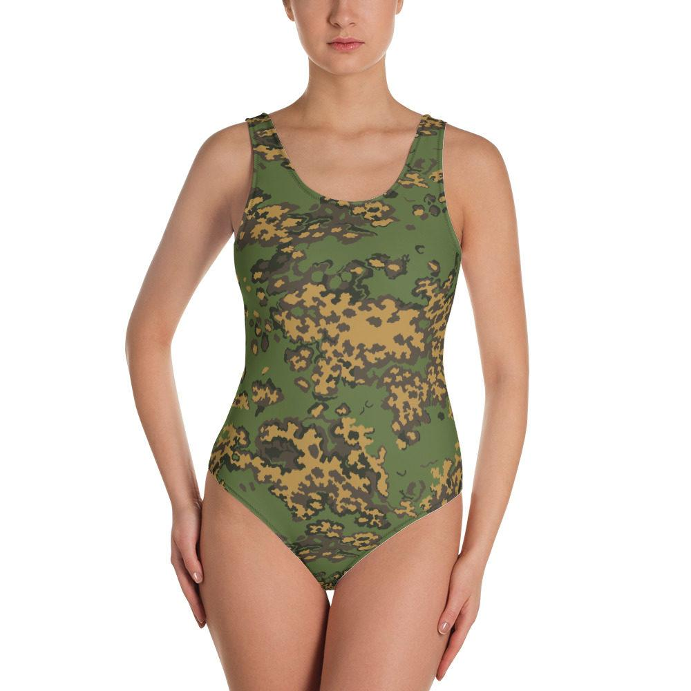 Russian SS Leto Fall Camouflage One-Piece Swimsuit