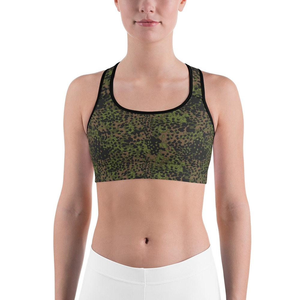 WWII Germany platanenmuster spring Camouflage Sports bra