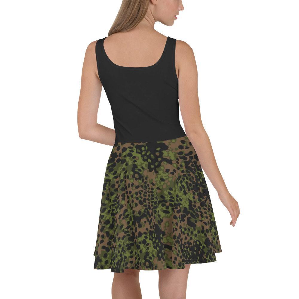 mockup 3aaf531f - WWII Germany platanenmuster spring Camouflage haut noir Skater Dress
