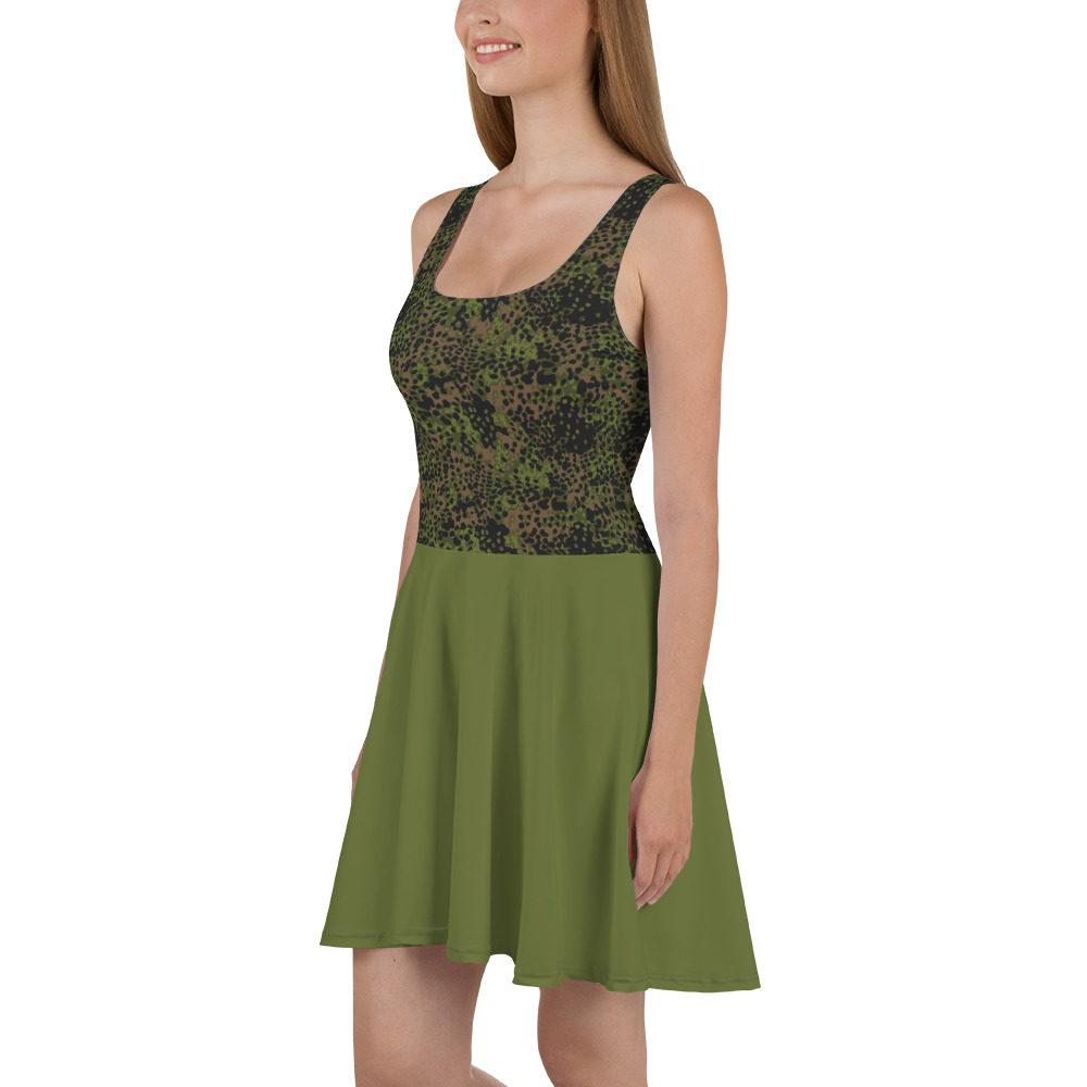 mockup 3da30951 - WWII Germany platanenmuster spring Camouflage bas vert Skater Dress