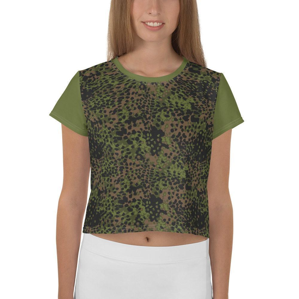 WWII Germany platanenmuster spring Camouflage green Crop Tee