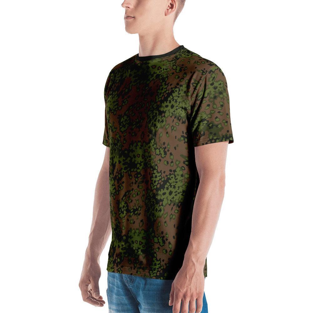 mockup 4ad6d4e1 - WWII Germany Eichenlaub Spring Camouflage black neck Men's T-shirt