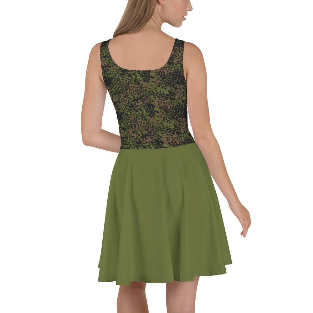 mockup 7ad96724 - WWII Germany platanenmuster spring Camouflage bas vert Skater Dress