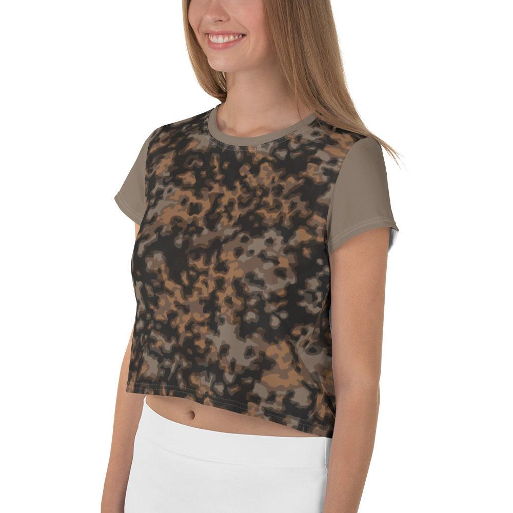 WWII Germany Rauchtarn fall Camouflage tan Crop Tee
