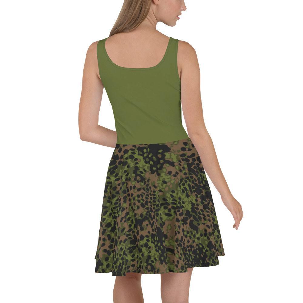 mockup a0c8e23d - WWII Germany platanenmuster spring Camouflage haut vert Skater Dress