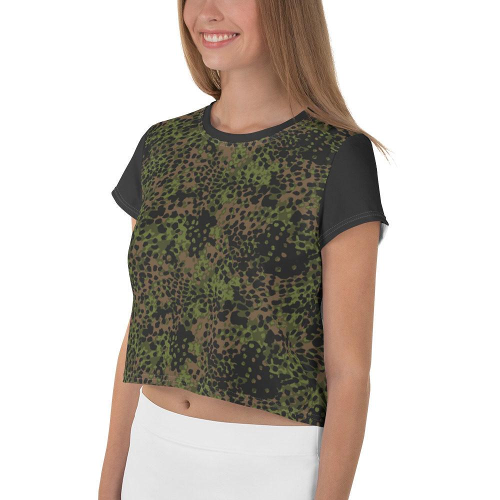 WWII Germany platanenmuster spring Camouflage Crop Tee