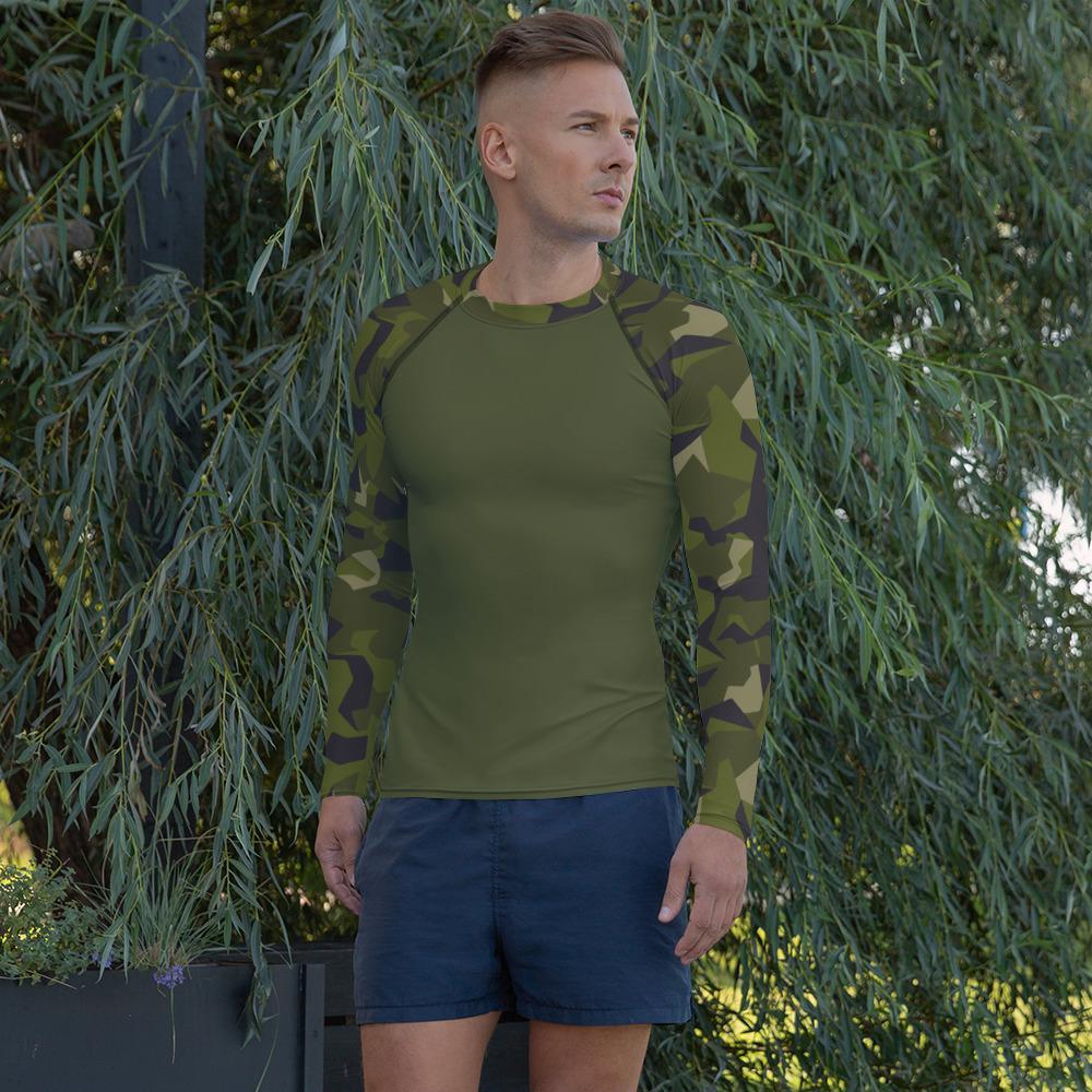 Swedish M90 forest camouflage ubac's style Men's Rash Guard