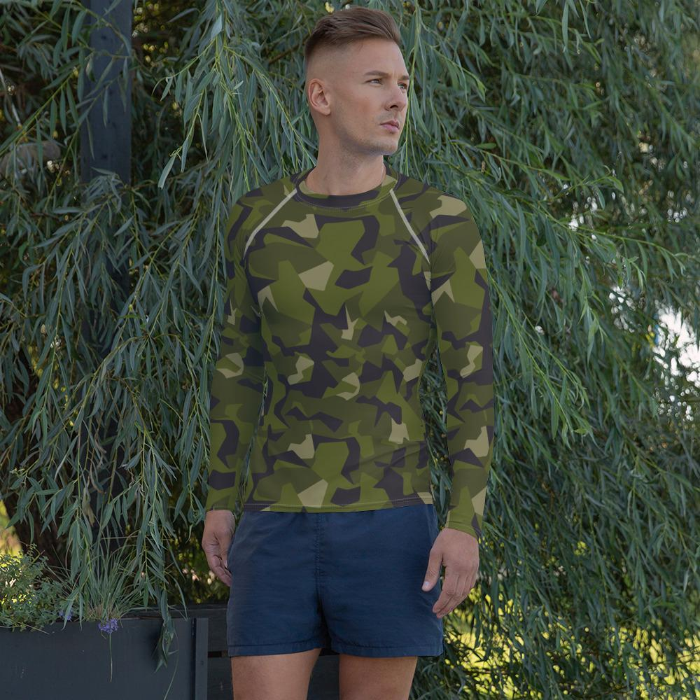 Swedish M90 forest camouflage Men's Rash Guard