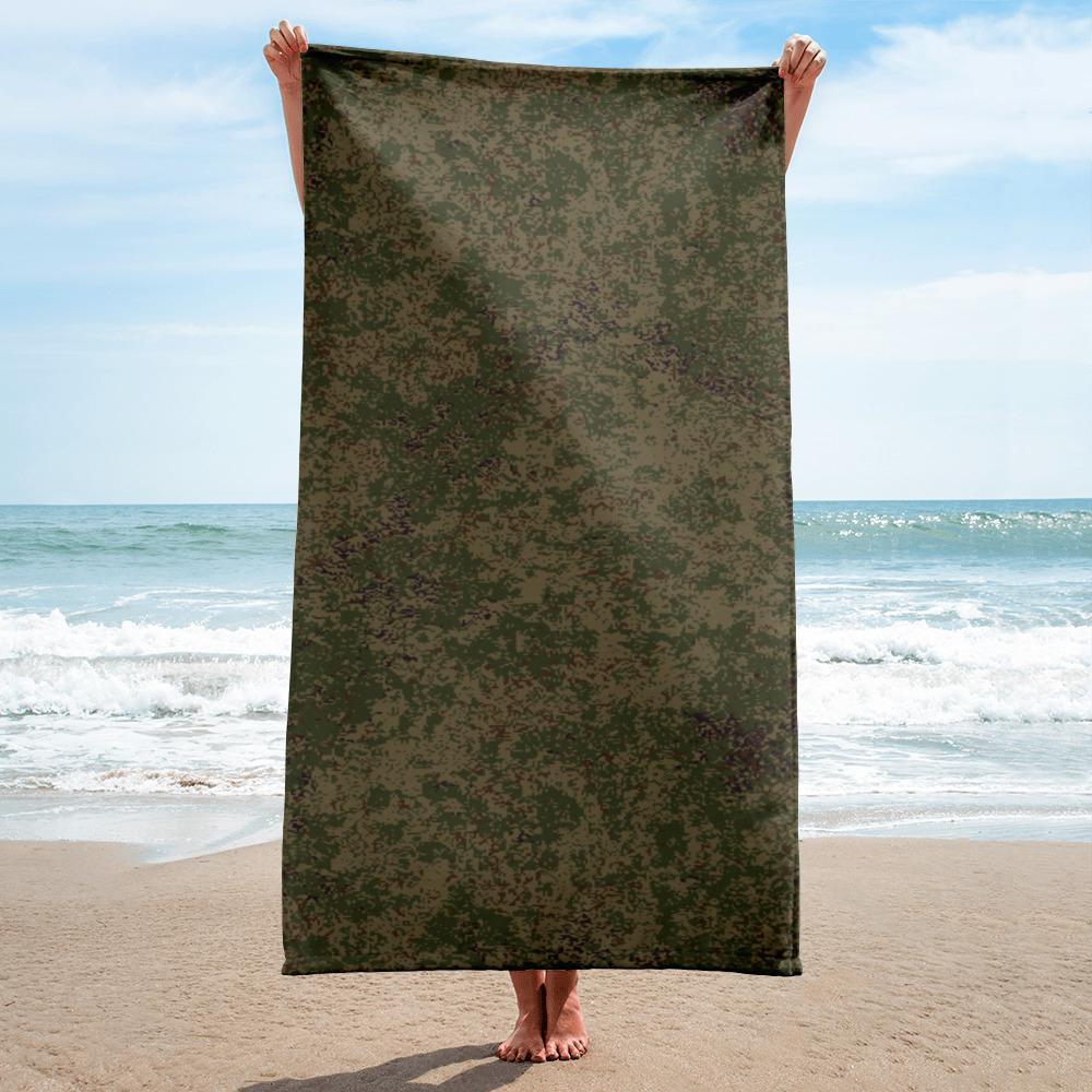 Russian 2008 EMR Digital Flora Highland Grey beach Towel