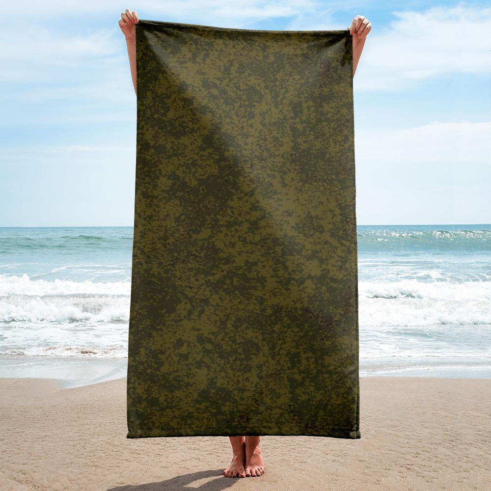 Russian 2008 EMR Digital Flora Highland brown beach Towel