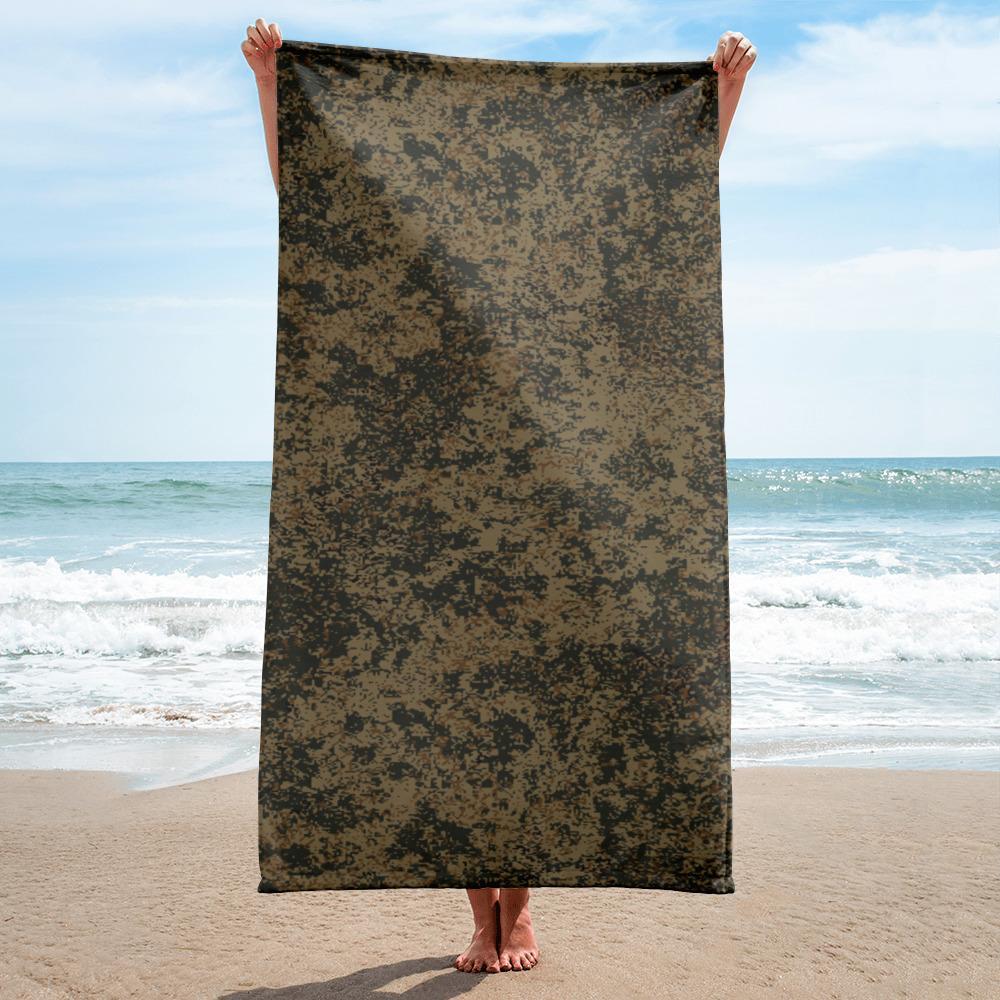 Russian 2008 EMR Digital Flora Mountain beach Towel