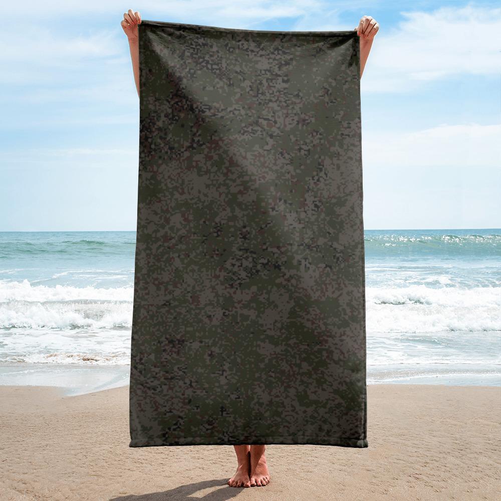 Russian 2008 EMR Digital Flora Taïga beach Towel