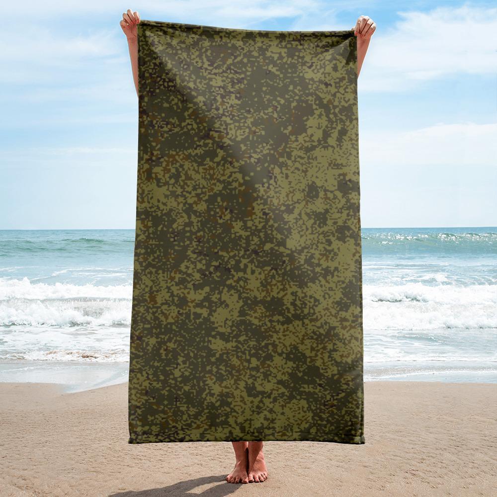 Russian 2008 EMR Digital Flora Steppes beach Towel