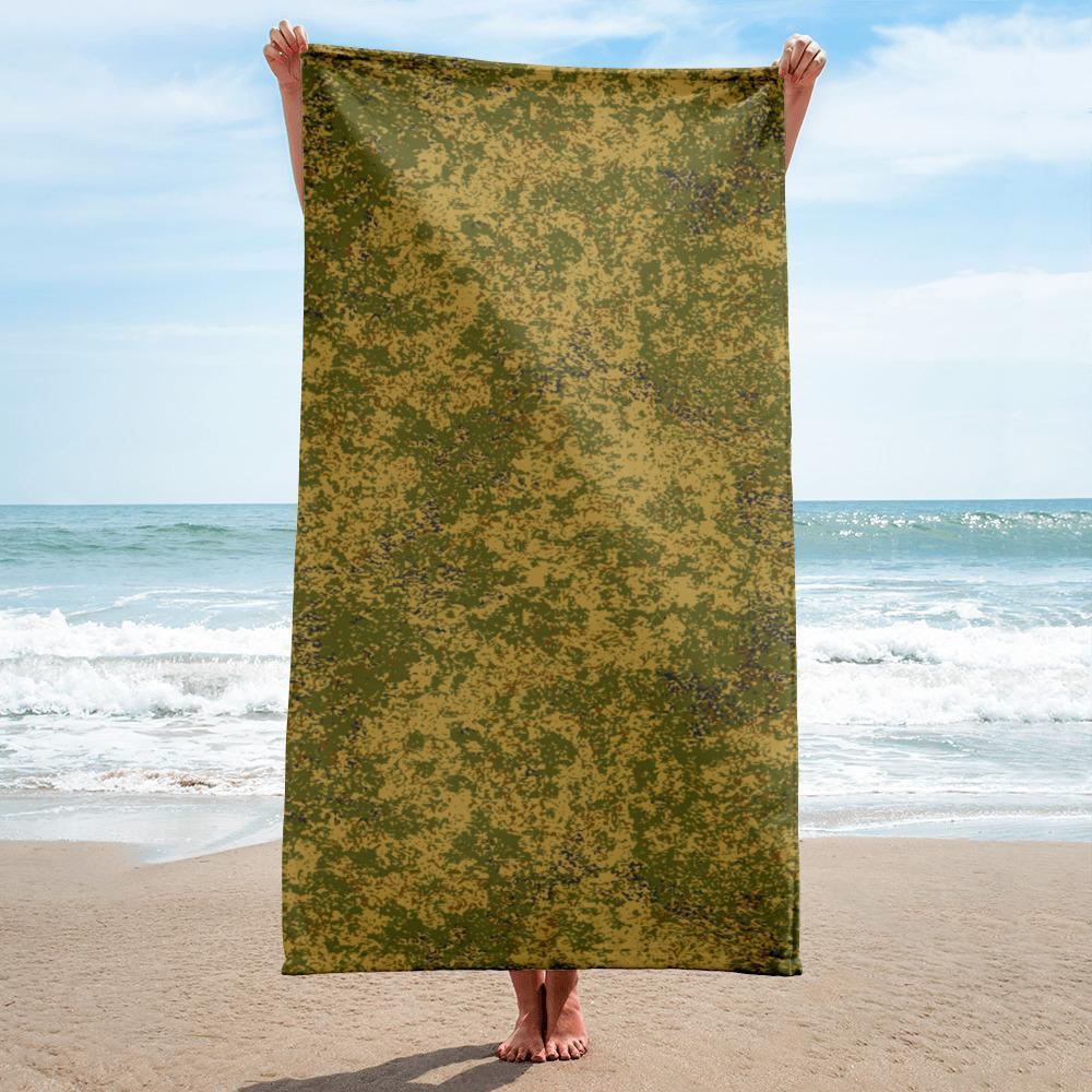 Russian 2008 EMR Digital Flora Arid beach Towel