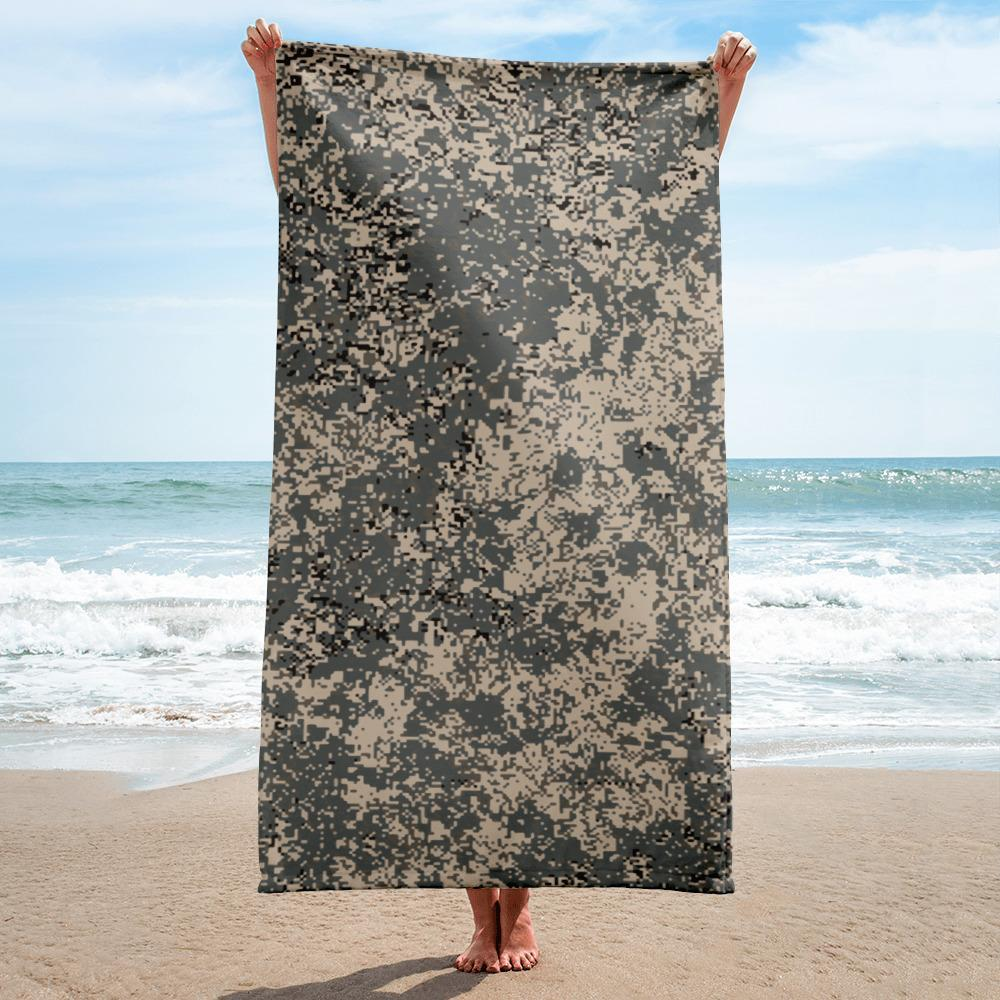 Russian 2008 EMR Digital Flora Urban beach Towel
