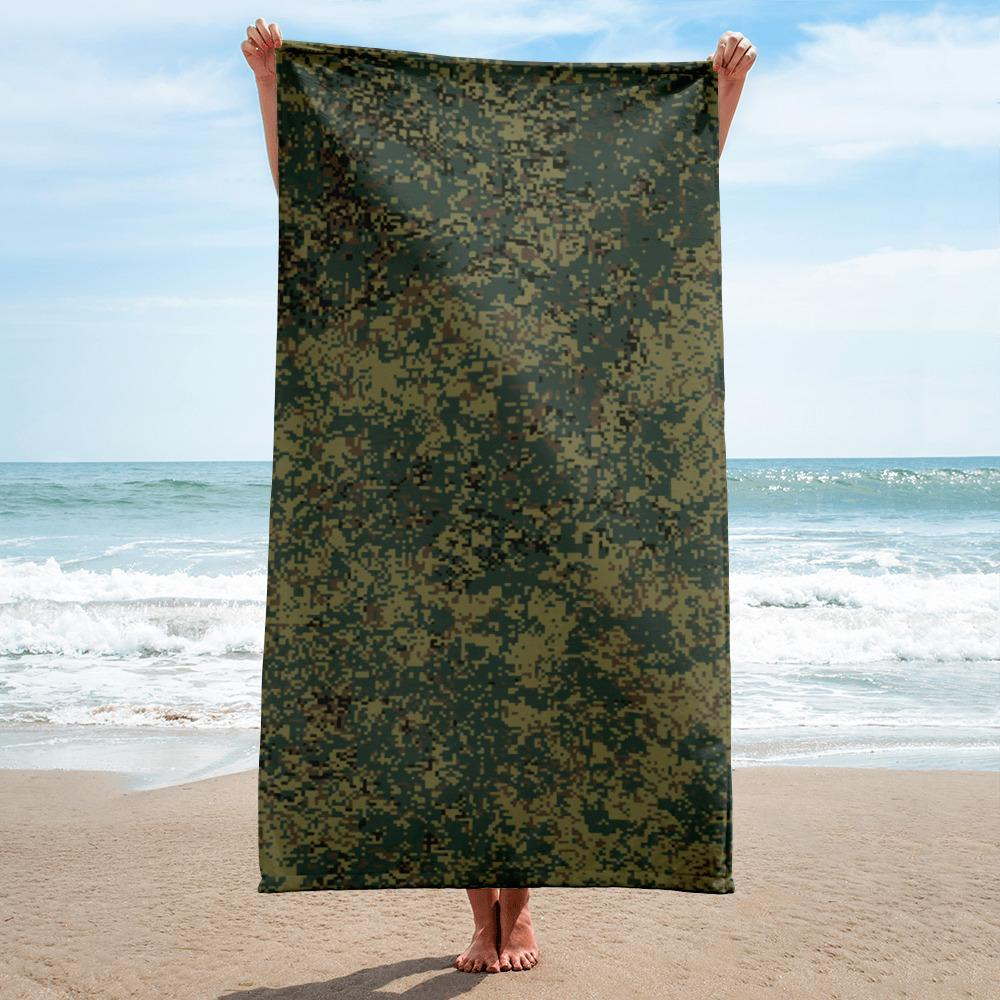 Russian 2008 EMR Digital Flora Woodland Bright beach Towel