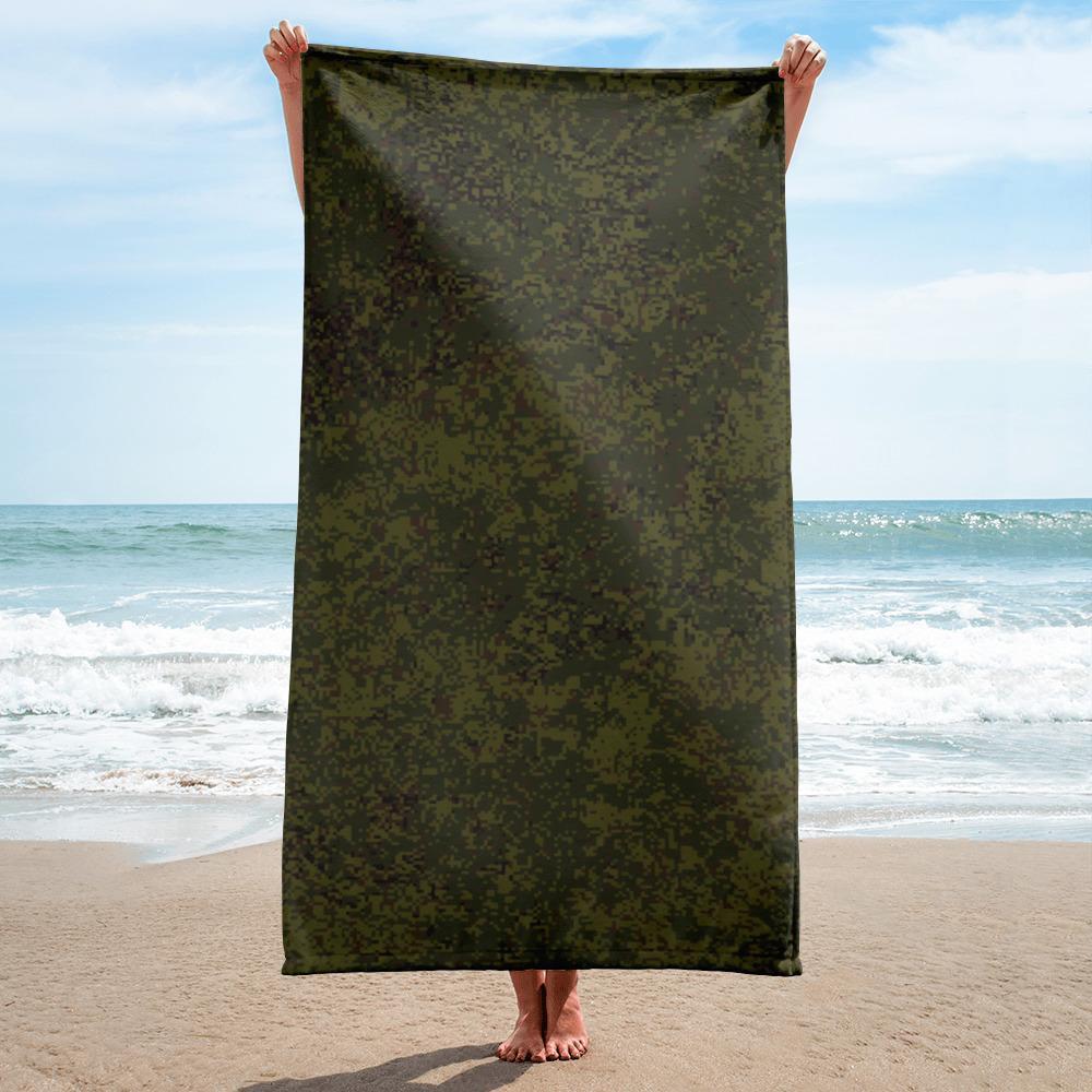 Russian 2008 EMR Digital Flora woodland beach Towel