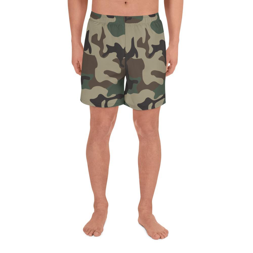 ERDL Woodland Camouflage Men's Athletic Long Shorts