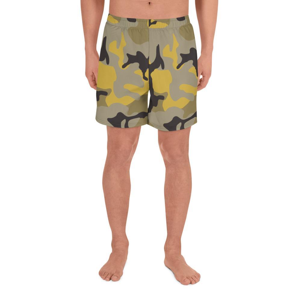 ERDL Yellow Stinger Camouflage Men's Athletic Long Shorts