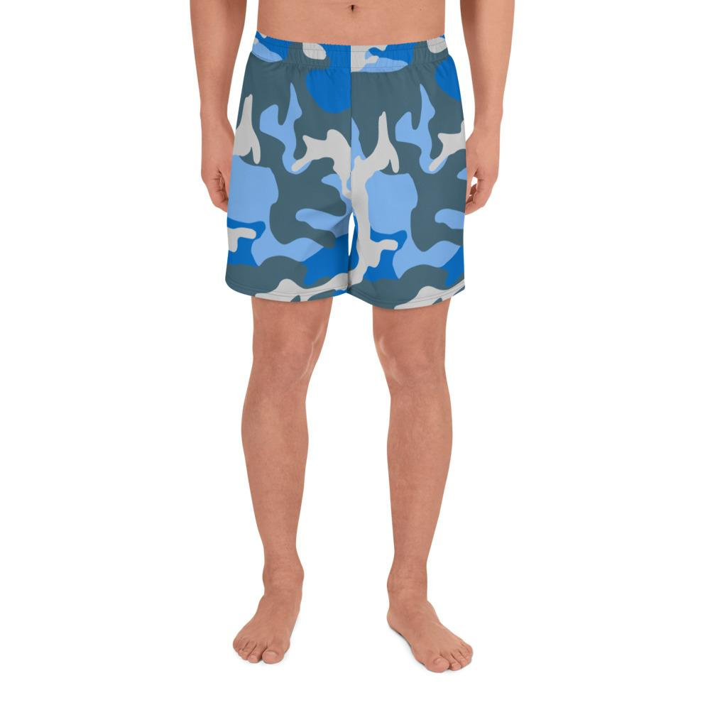 ERDL Blue Sky Camouflage Men's Athletic Long Shorts