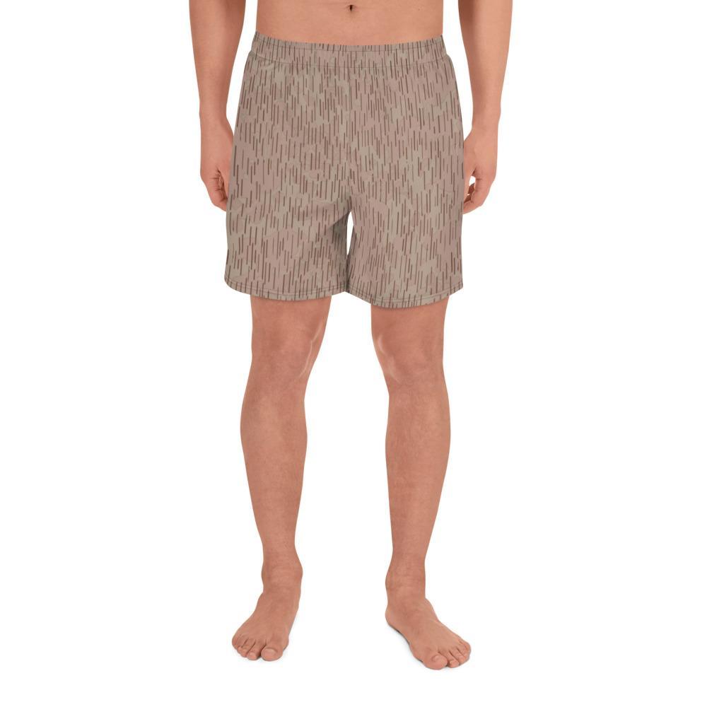 Bulgarian 1960 Raindrop Camouflage Men's Athletic Long Shorts