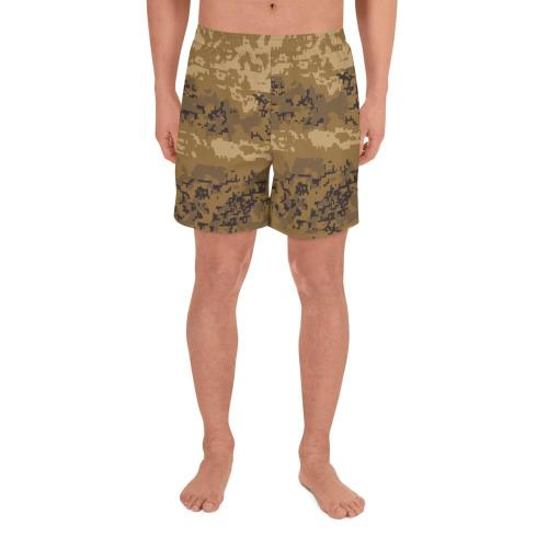 Austrian JagdKommando Desert Pixeltarnung Camouflage Men's Athletic Long Shorts