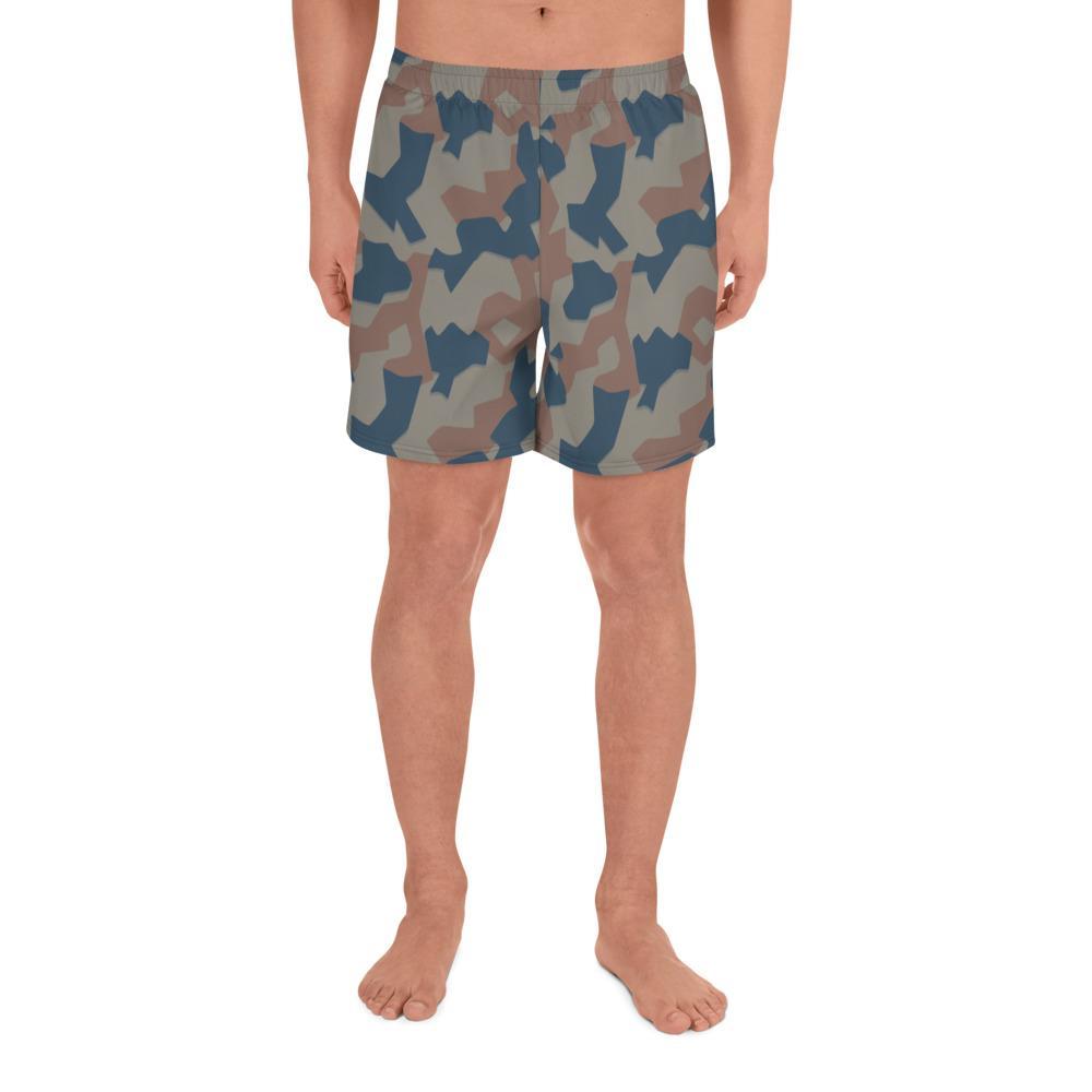 Bulgarian 1951 splinter Camouflage Men's Athletic Long Shorts
