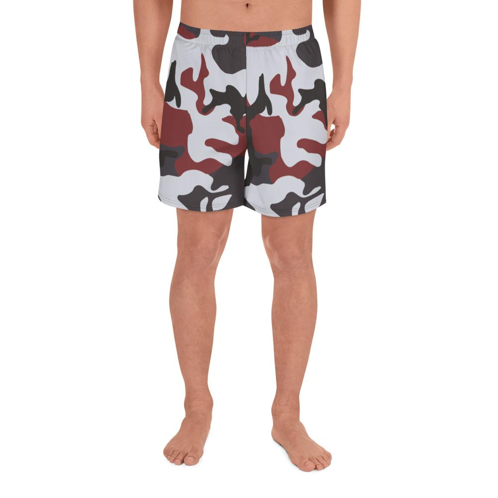 ERDL Red Camouflage Men's Athletic Long Shorts