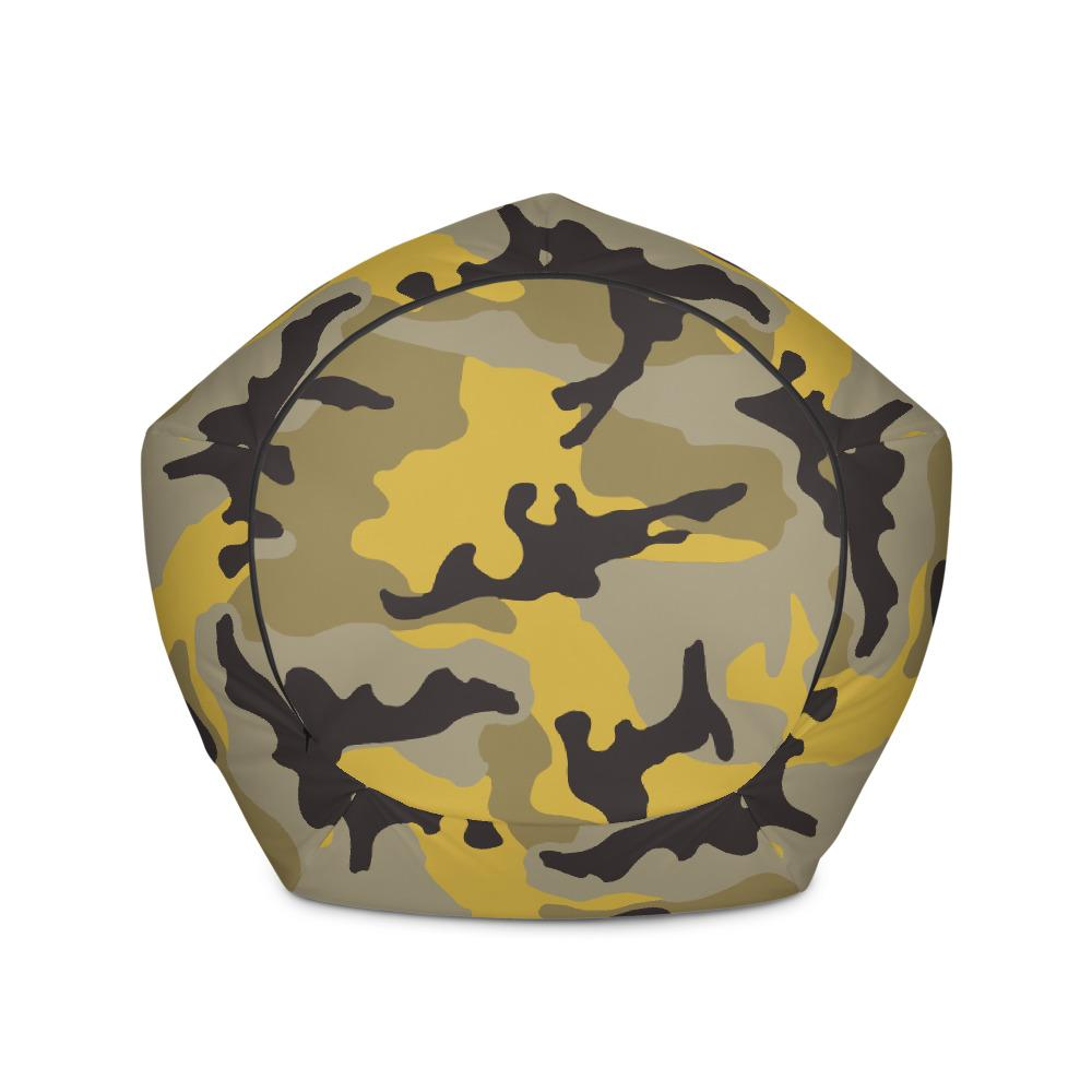Awesome Erdl Yellow Stinger Camouflage Bean Bag Chair Cover Machost Co Dining Chair Design Ideas Machostcouk
