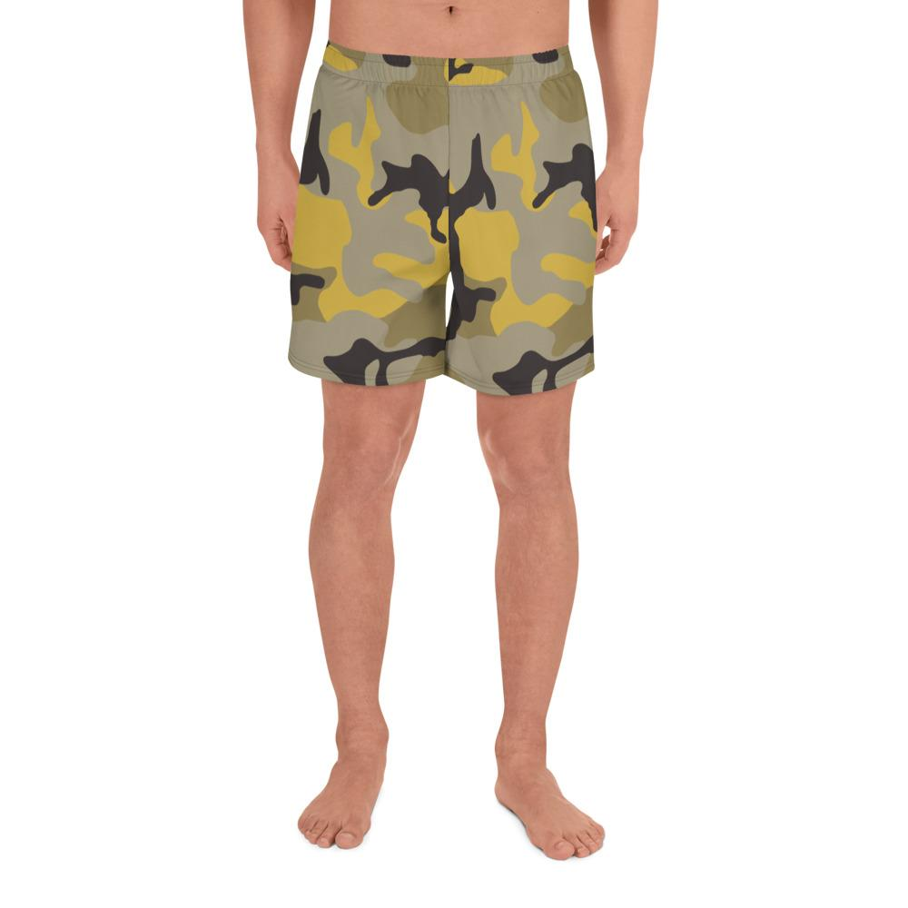 ERDL Yellow Stinger Camouflage Men's Athletic Long Shorts