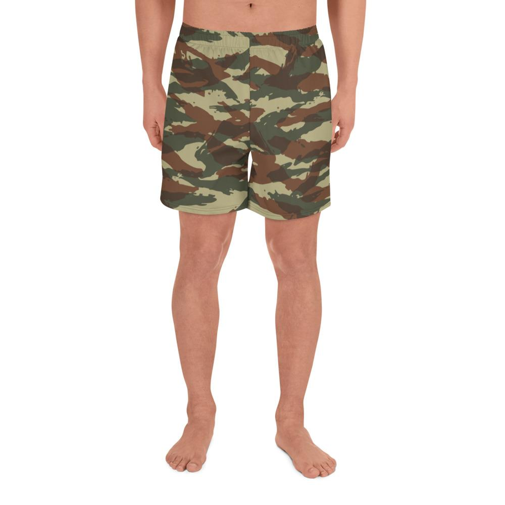 French Lizard Type A1 Camouflage Men's Athletic Long Shorts