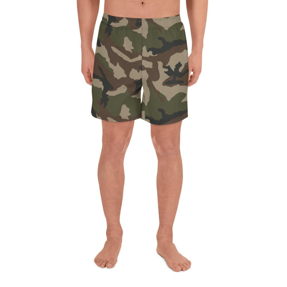 French CCE Centre Europe Camouflage Men's Athletic Long Shorts