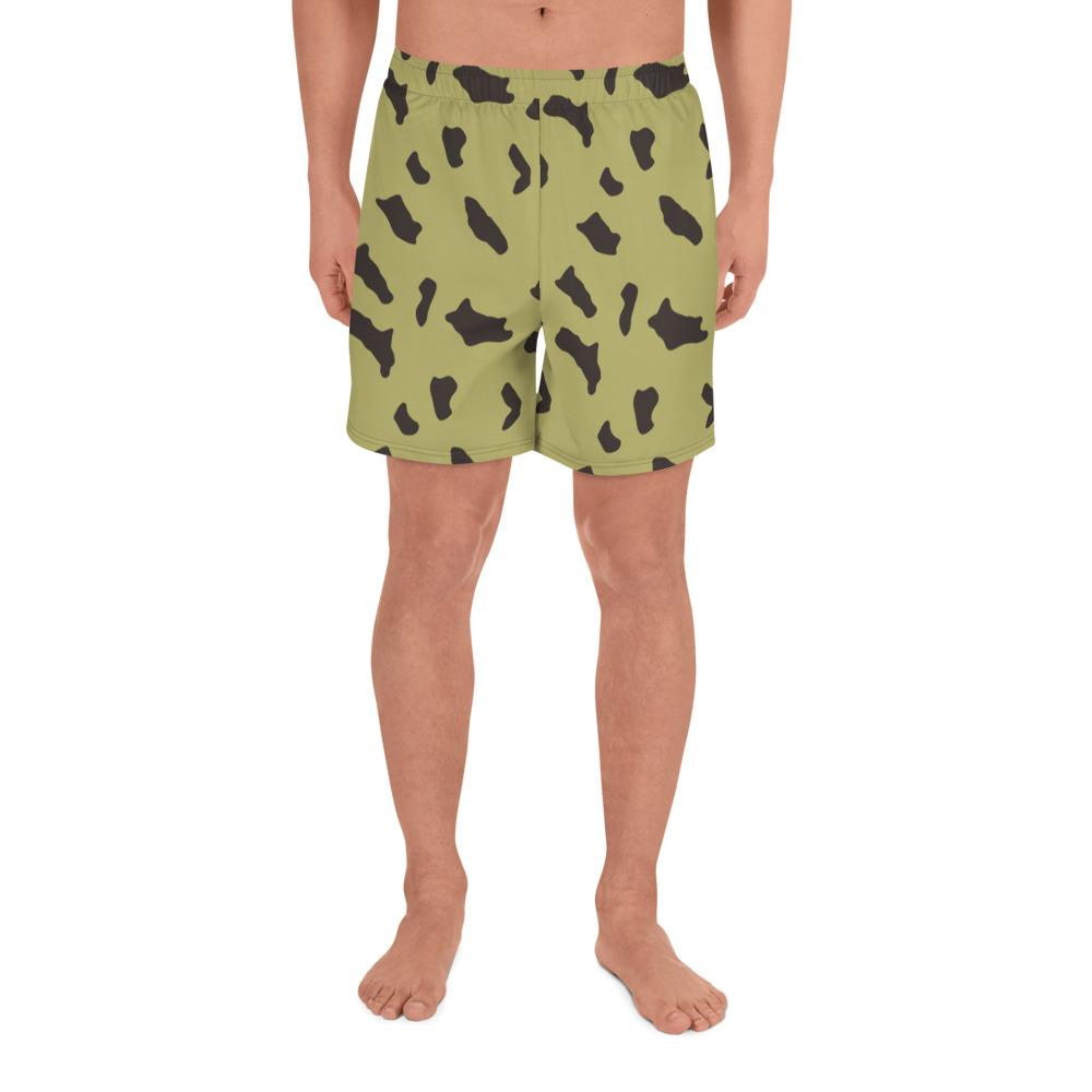 Egyptian Rocks Pattern Camouflage Men's Athletic Long Shorts