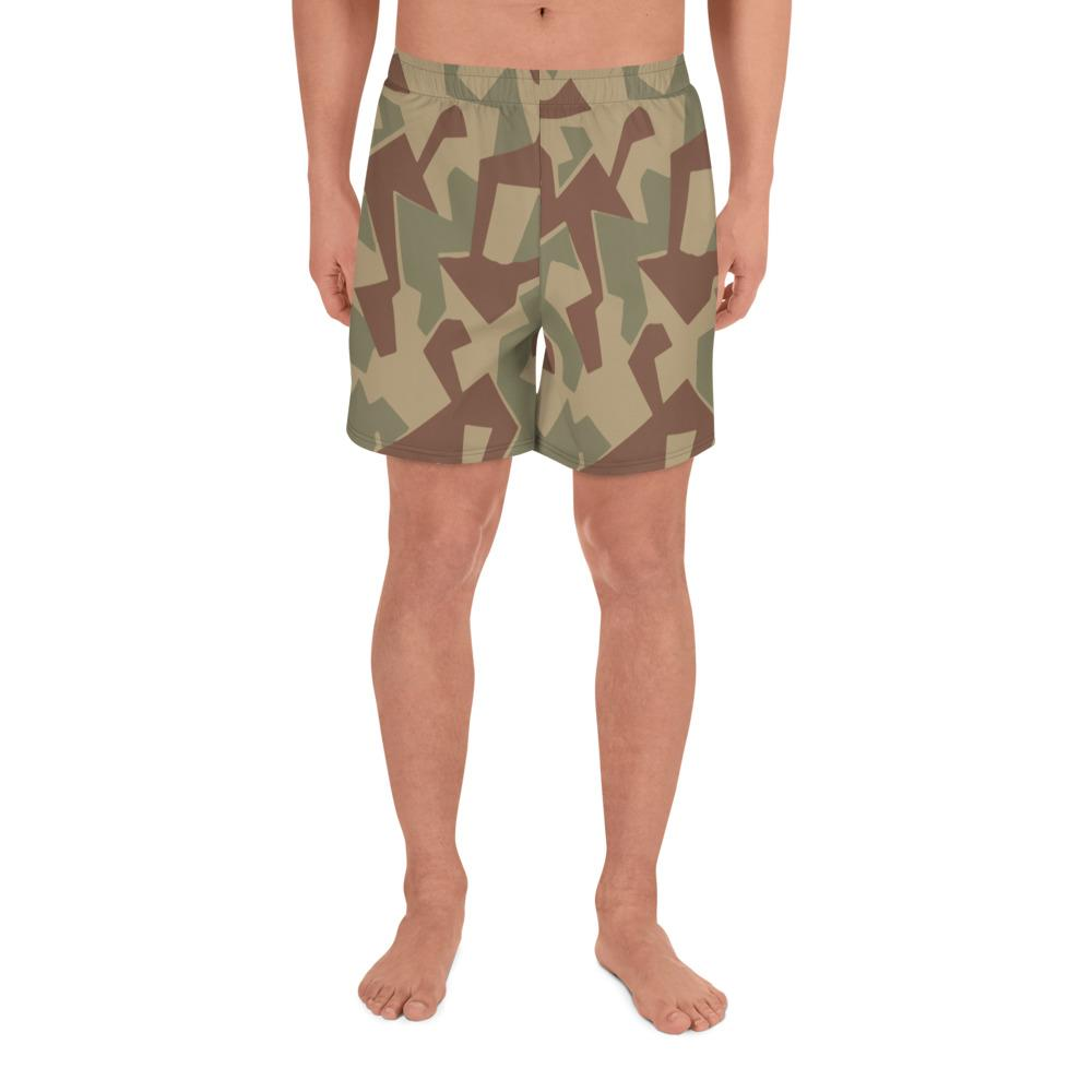 Bulgarian 1946 splinter Camouflage Men's Athletic Long Shorts