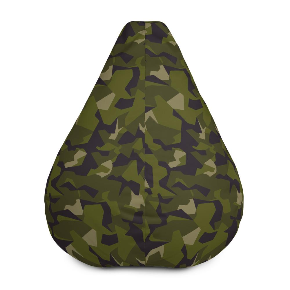 Swedish M90 forest camouflage Bean Bag Chair w/ filling