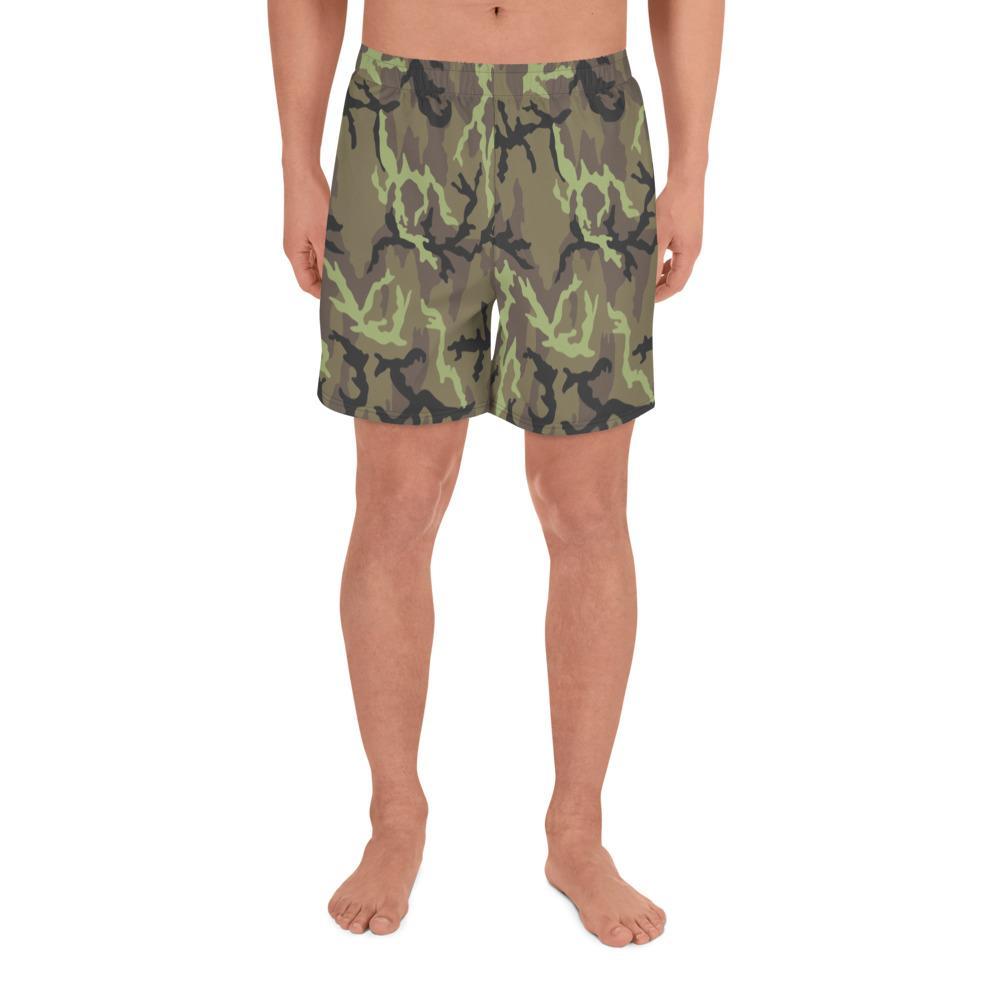 Czech Vz 95 woods Camouflage Men's Athletic Long Shorts