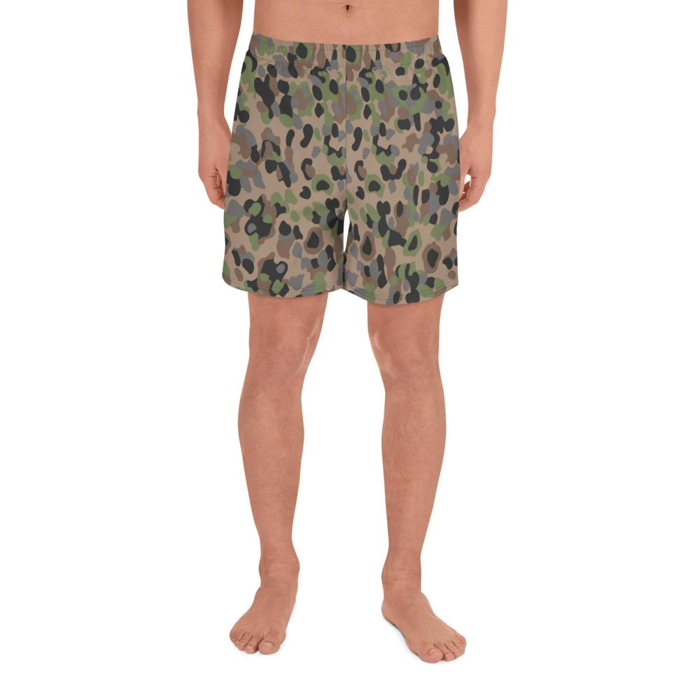 Austrian Kampfanzug 57-59 Camouflage Men's Athletic Long Shorts