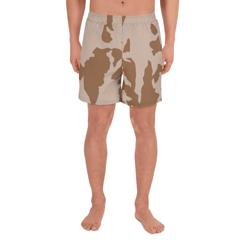 Czech Vz 85 Desert Camouflage Men's Athletic Long Shorts