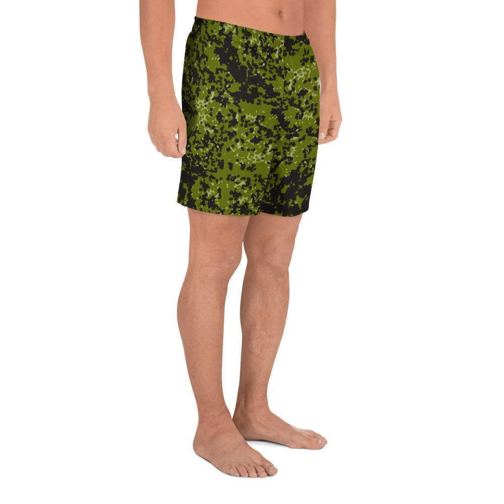 Danish M84 Woods pattern Camouflage Men's Athletic Long Shorts