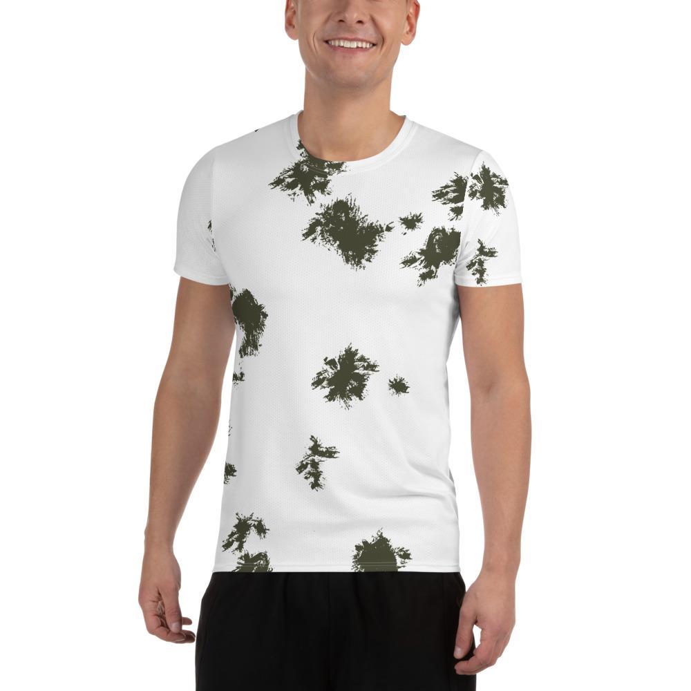 German Schneetarn Camouflage Men's Athletic T-shirt