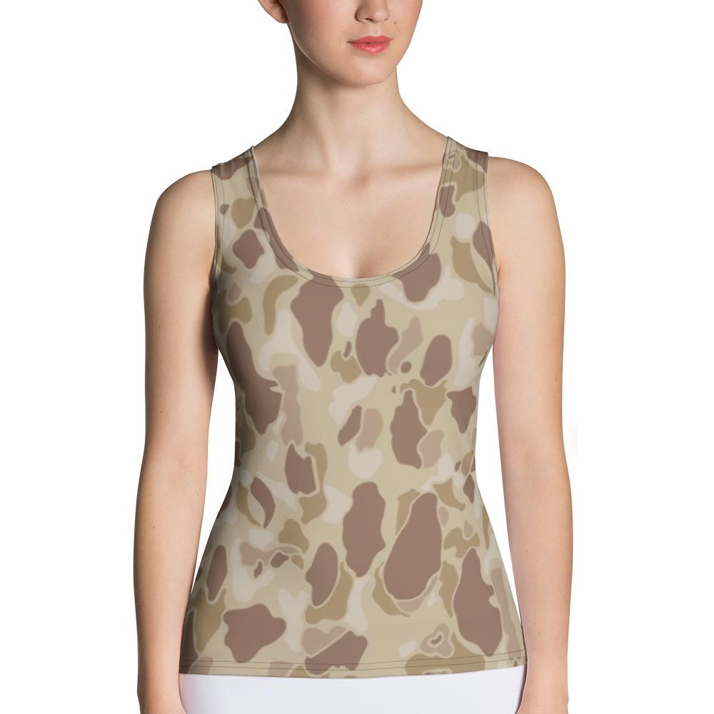 US WWII Duck Hunter Autumn Camouflage Women's Tank Top