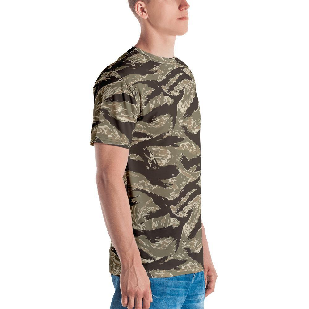 US desert Tiger Stripes Camouflage Men's Crew Neck T-Shirt