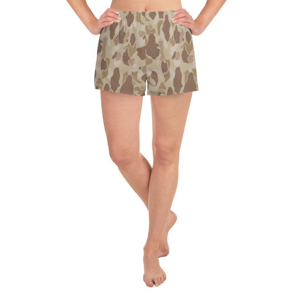 US WWII Duck Hunter Autumn Camouflage Women's Athletic Short Shorts