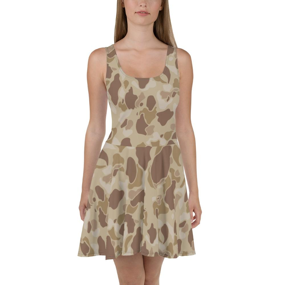 US WWII Duck Hunter Autumn Camouflage Skater Dress