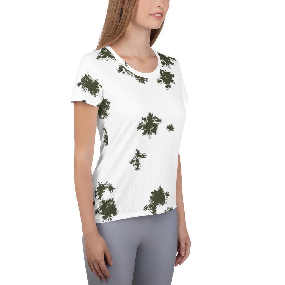 German Schneetarn Camouflage Women's Athletic T-shirt