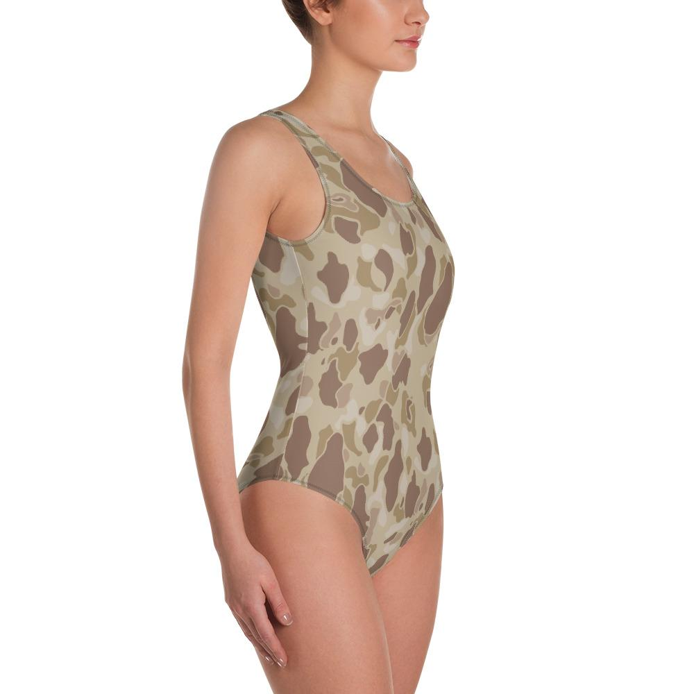 US WWII Duck Hunter Autumn Camouflage One-Piece Swimsuit