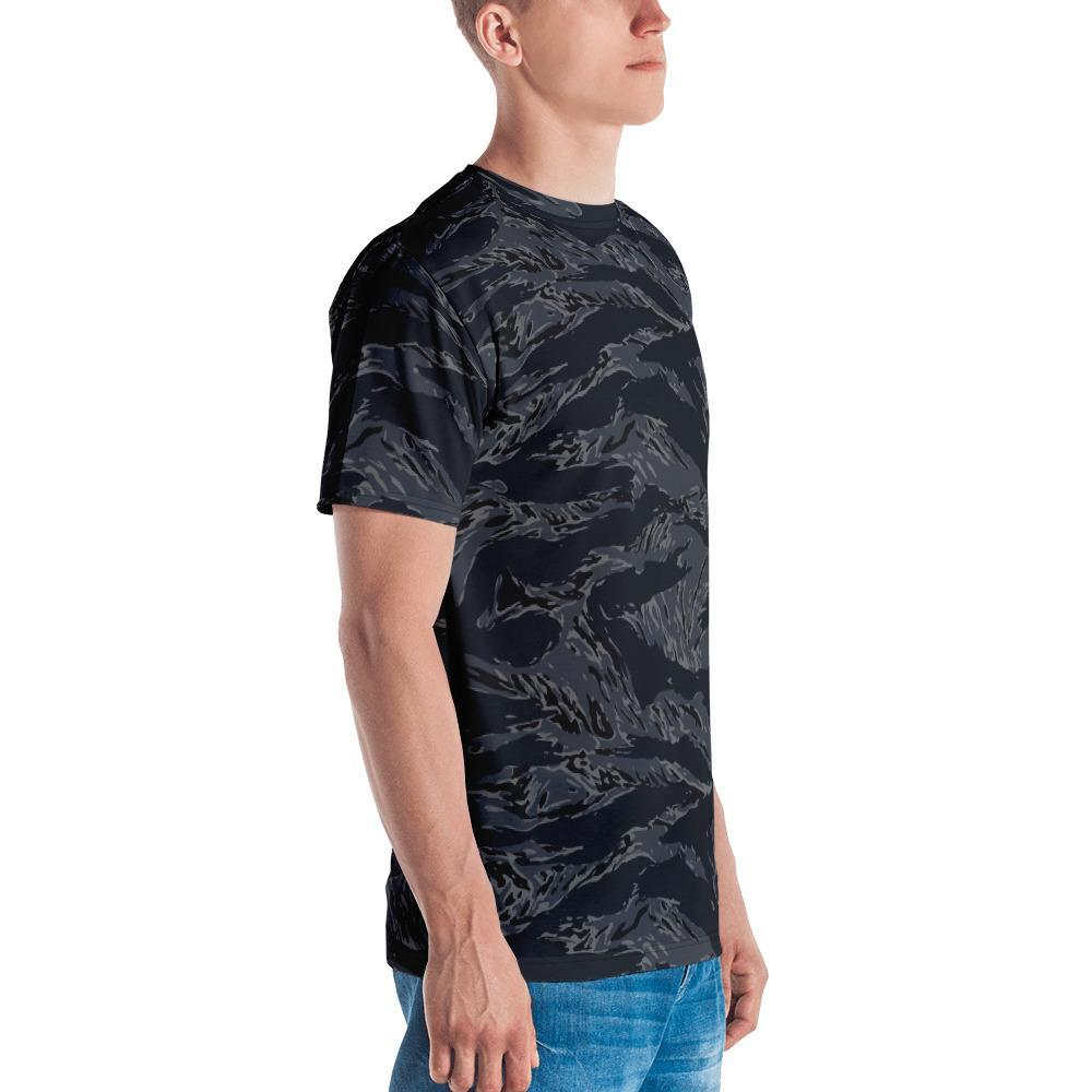 US NAVY Blue Tiger Stripes Camouflage Men's Crew Neck T-Shirt