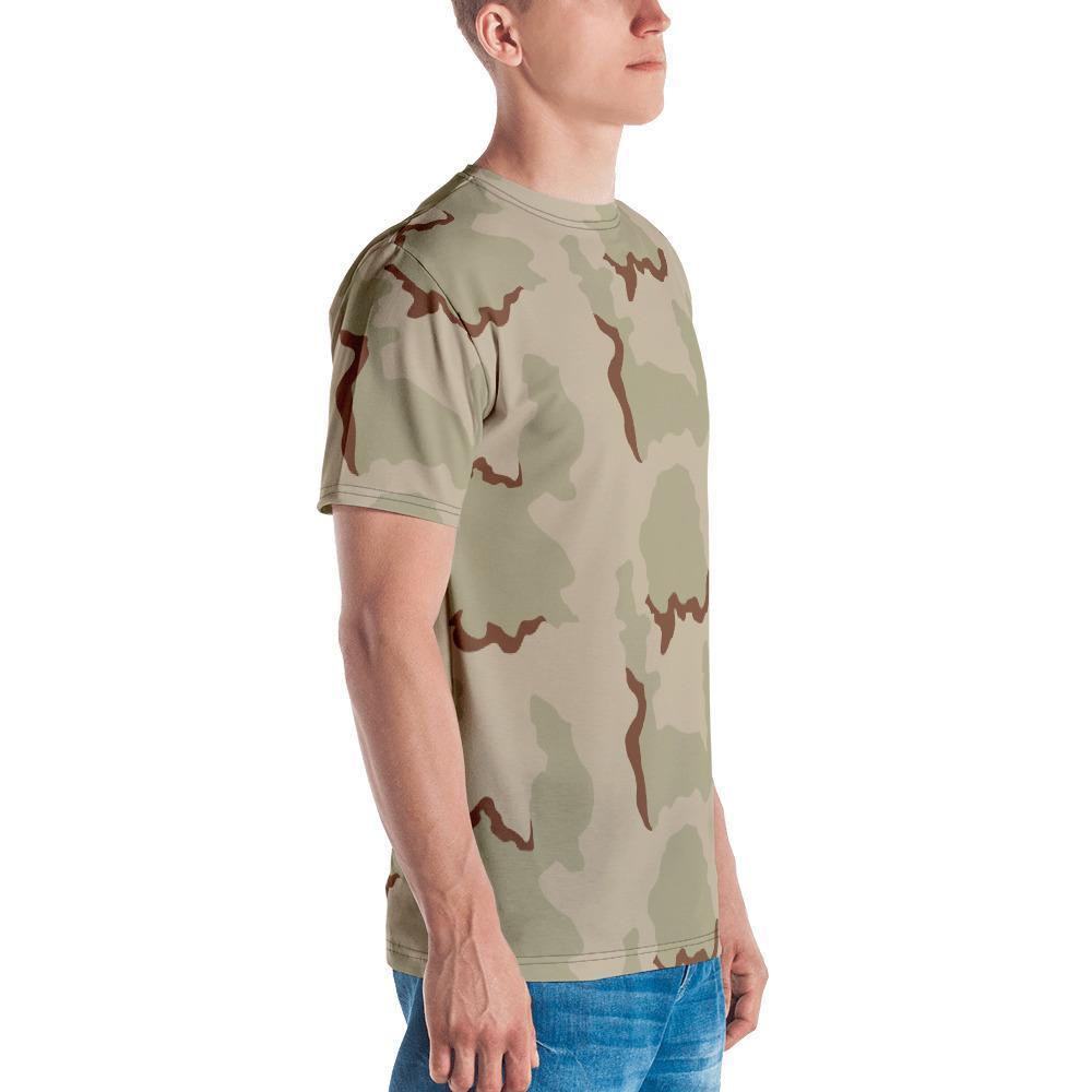 US Desert 3 colors Camouflage Men's Crew Neck T-Shirt