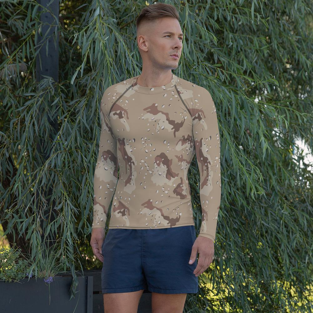 US Desert Shield / Storm Chocolate Chip Camouflage Men's Rash Guard